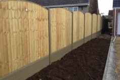 Timber Panels fitted in Natural posts and gravel boards.